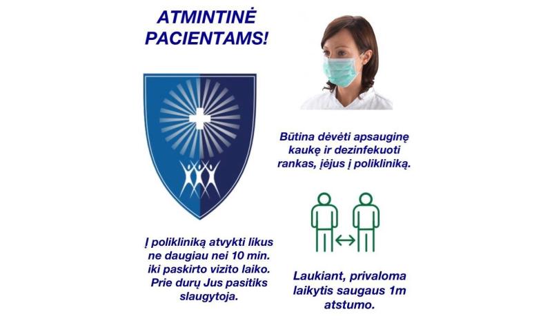 AKTUALI VŠĮ DRUSKININKŲ PSPC INFORMACIJA PACIENTAMS